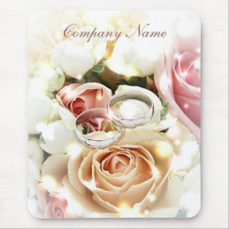 rose bouquets rings  wedding planner business mouse pad