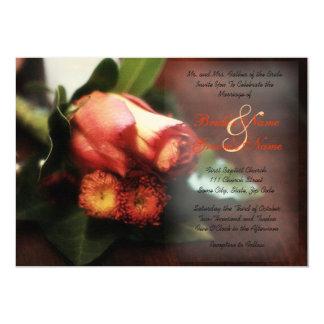 Rose Boutonnière Wedding Invitation