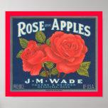 Rose Brand Apples Poster