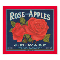 Rose Brand Apples Poster