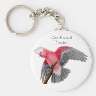 Rose Breasted Cockatoo Keychain