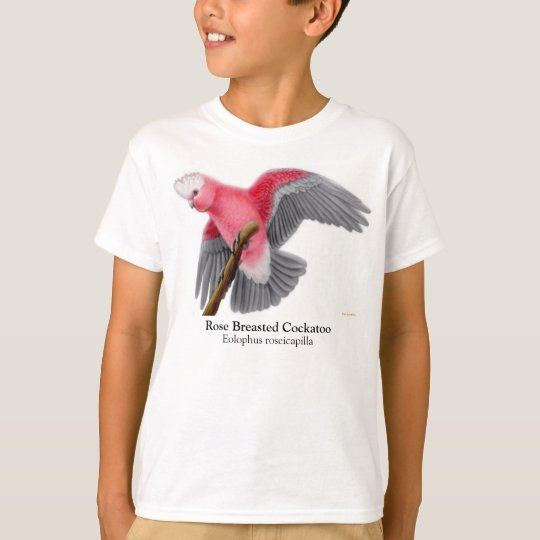 Rose Breasted Cockatoo Kids T-Shirt