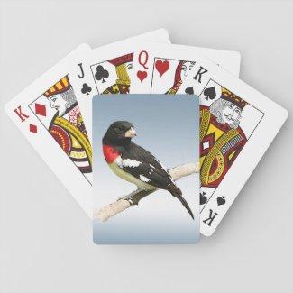 Rose-breasted Grosbeak Bird Playing Cards