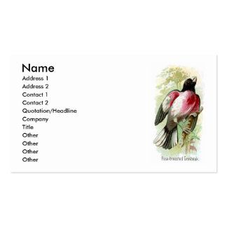 Rose-breasted Grosbeak Business Card