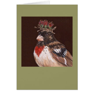 rose-breasted grosbeak card, Winston Card