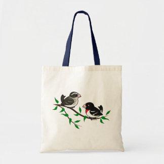 Rose-breasted Grosbeak Couple Budget Tote Bag