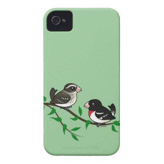 Rose-breasted Grosbeak Couple iPhone 4 Case-Mate Case