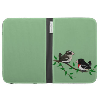 Rose-breasted Grosbeak Couple Kindle Keyboard Covers