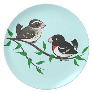 Rose-breasted Grosbeak Couple Plate