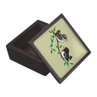 Rose-breasted Grosbeak Couple Premium Jewelry Boxes