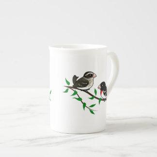 Rose-breasted Grosbeak Couple Tea Cup