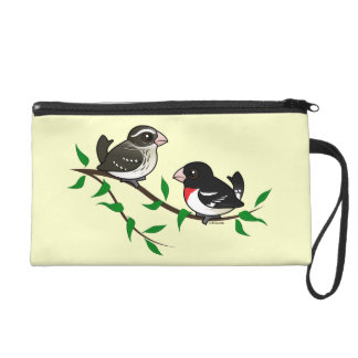 Rose-breasted Grosbeak Couple Wristlet Clutches