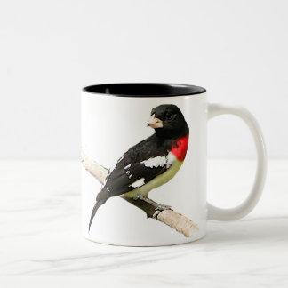 Rose-breasted Grosbeak Two-Tone Coffee Mug