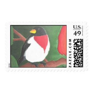 Rose Breasted Grosbeak Postage