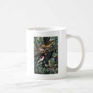 Rose-Breasted Grosbeaks and Their Nest of Eggs Coffee Mug
