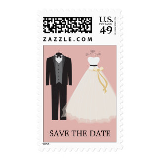 ROSE BRIDE AND GROOM | SAVE THE DATE POSTAGE