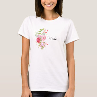Rose bride bridal party watercolor T-Shirt