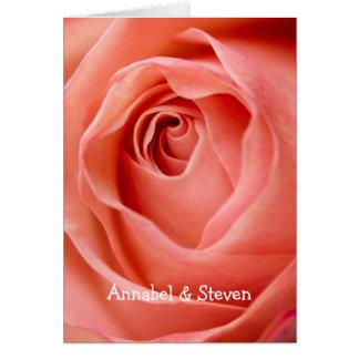 Rose Bride & Groom Card