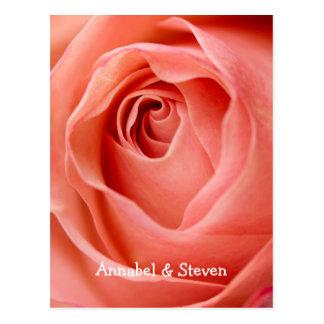 Rose Bride & Groom Postcard