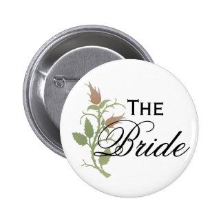 Rose Bride Pinback Buttons