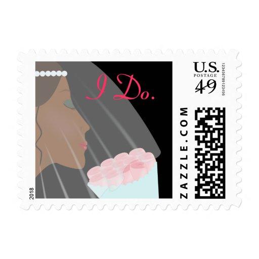 Rose Bride Wedding Postage, I Do. Stamp