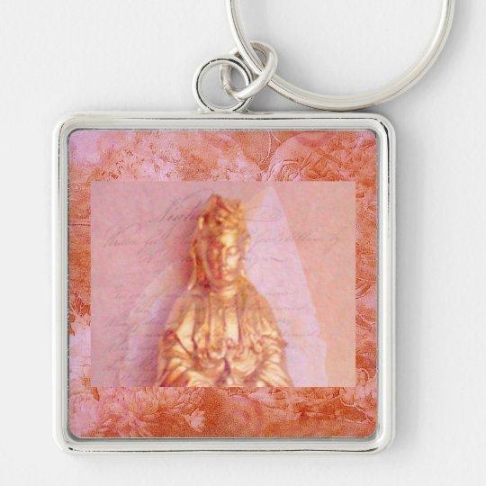 Rose-Bronze Kwan Yin Keychain