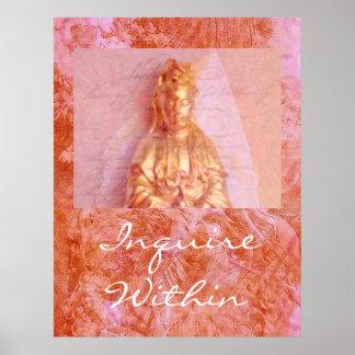 Rose-Bronze Kwan Yin Print