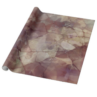 Rose Brown Marble Wrapping Paper