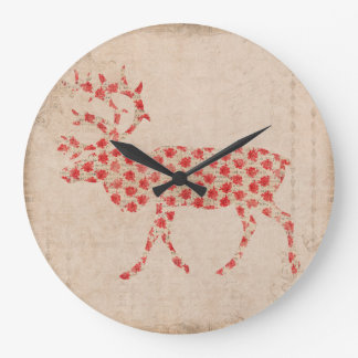 Rose Buck Silhouette Clock