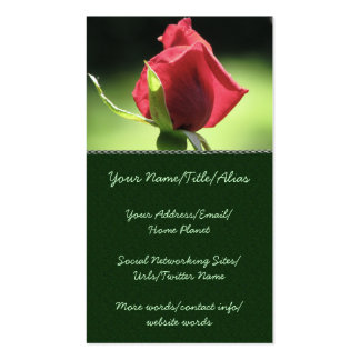 Rose Bud Business Card