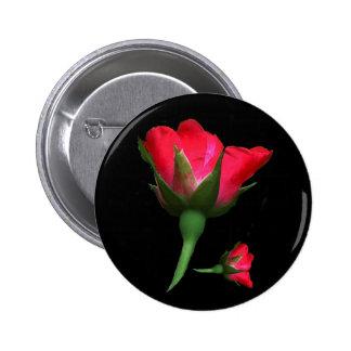 Rose Bud Pinback Button
