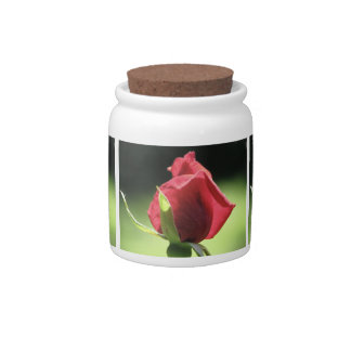 ROSE BUD CANDY JARS