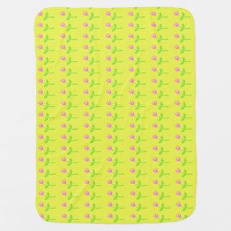 Rose Bud Pattern Stroller Blanket