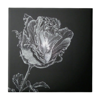 Rose bud ceramic tiles