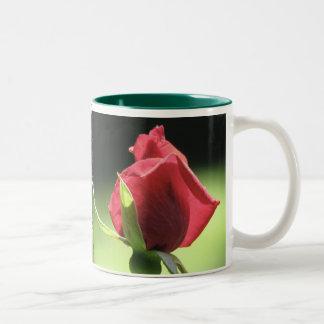 Rose Bud Two-Tone Coffee Mug