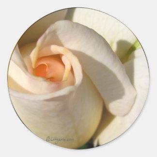 Rose bud  Wedding Envelope Seal Classic Round Sticker
