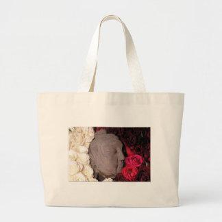 Rose Buddha Tote Bags