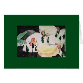 rose buds greeting card