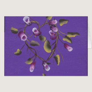 ROSE BUDS ON HEART VINE CARD
