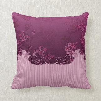 Burgundy Print Throw Pillows : Roses Floral Print Pillows - Decorative & Throw Pillows Zazzle