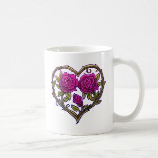 Rose Bush Heart Design Coffee Mug
