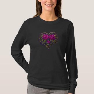 Rose Bush Heart Design T-Shirt