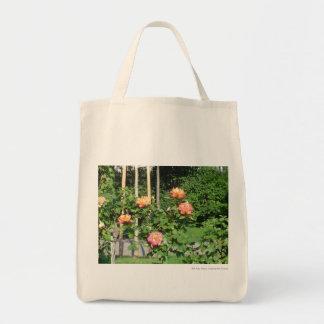 Rose bush tote bag