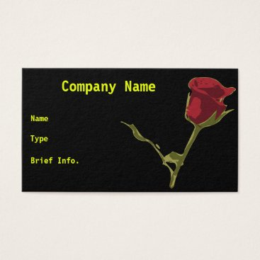 Professional Business Rose Business Card