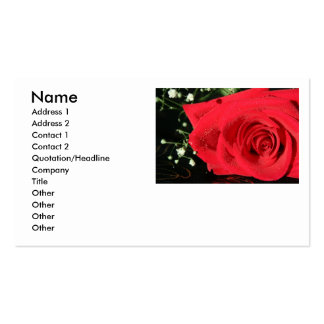 Rose Double-Sided Standard Business Cards (Pack Of 100)