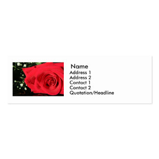 Rose Double-Sided Mini Business Cards (Pack Of 20)