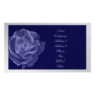 Rose business/profile card blue tone