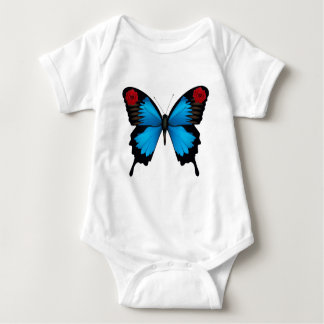 ROSE BUTTERFLY BABY BODYSUIT