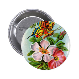 Rose & Butterfly Buttons