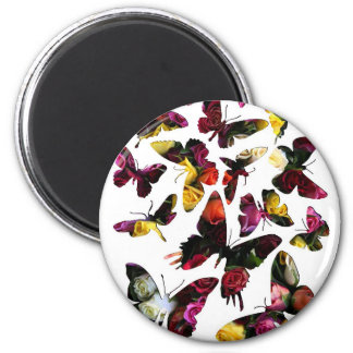 Rose Butterfly Collection Collage Magnet